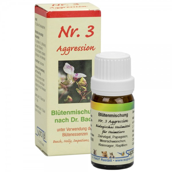 Nr. 3 Aggression Bachblütenmischung - 10 gr. Globuli