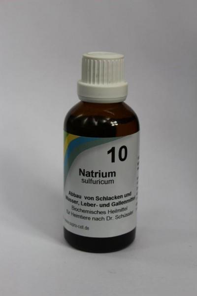 Nr. 10 Natrium sulfuricum - 50 ml Lösung